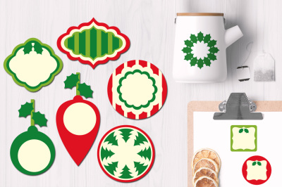 Christmas Frames Labels Tags