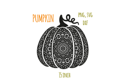 Scroll pumpkin svg. Bohemian fancy pumpkin