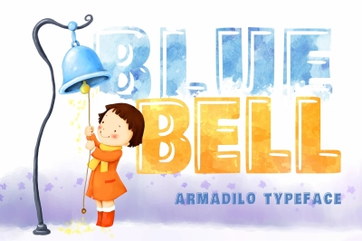 Blue bell covered Armadilo typeface