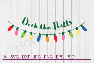 Christmas Lights SVG, Christmas Lights DXF, Cuttable File