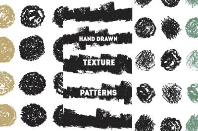 Hand drawn texture patterns