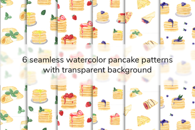 Watercolor Pancakes pattern