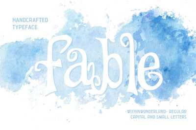 Fable covered - withinwonderland handcrafted typeface