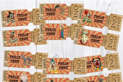 Creepy Clown Circus Freak Show Tickets / Halloween Party Tickets