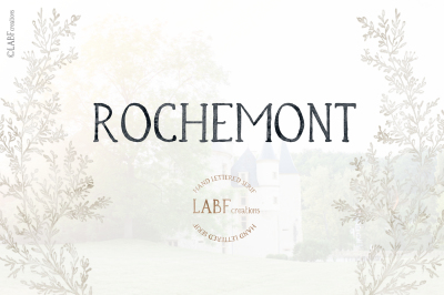 Rochemont. Classic and rustic Hand lettered serif font