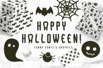 Halloween Fonts and Graphics