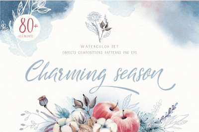CHARMING SEASON Watercolor set