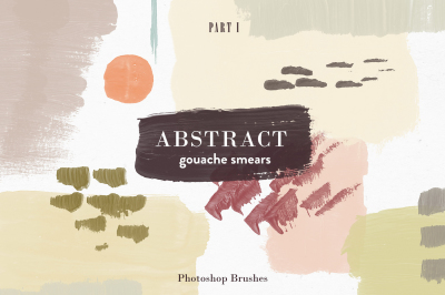 Abstract Gouache Smears - PS Brushes