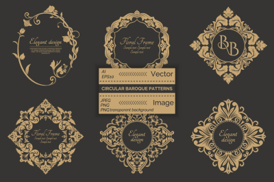 Baroque decorative premium frames