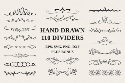 110 Hand drawn Dividers
