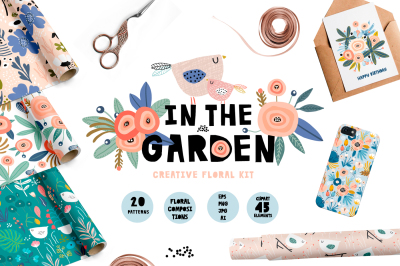 IN THE GARDEN creative floral kit