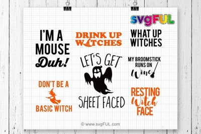 Halloween SVG, I'm A Mouse Duh, Lets Get Sheet Faced, Funny Halloween