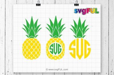 Pineapple Svg, Pineapple Monogram Svg, SVG Files, Cricut Cut Files