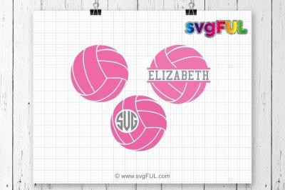 SVG, Volleyball Svg, Volleyball Frames Svg, Volleyball Monogram Svg