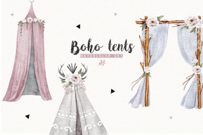 BOHO TENTS watercolor set