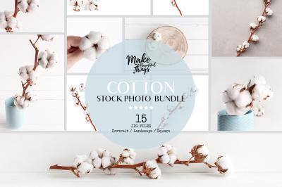 Cotton stock photorgaphy bundle