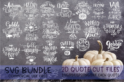 Thanksgiving SVG Bundle Give thanks bundle