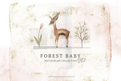 Watercolor Forest Baby Vol.2