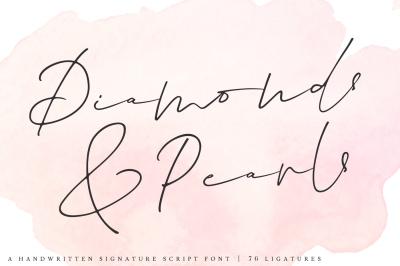 Diamonds & Pearls | A Handwritten Signature Script