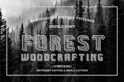Vintage style double lettered typeface