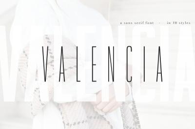 Valencia Font - Sans Serif - 10 Styles