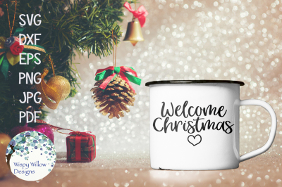 Welcome Christmas SVG