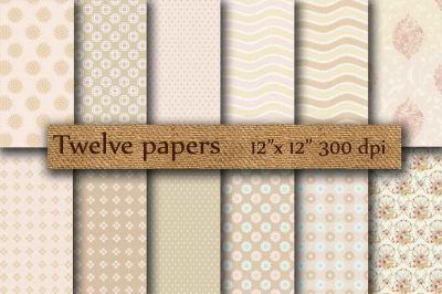 Beige scrapbook paper