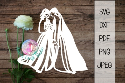 Bride and Bride SVG DXF PNG PDF and JPEG cutting file