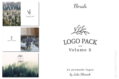 Logo Pack Volume 5. Florals