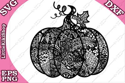 Pumpkin Svg, MANDALA PUMPKIN SVG, Thanksgiving Svg