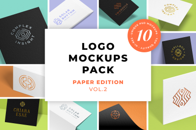 Logo Mockups Pack. Paper Edition. Vol.2