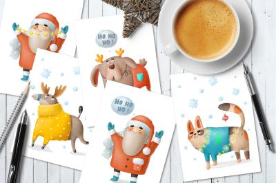Christmas postcards!