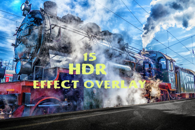 15 HDR effect photoshop action