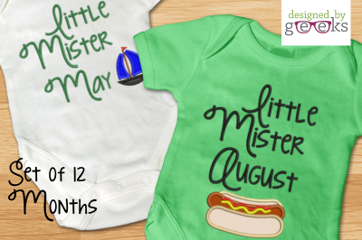 Little Mister First Year Bundle | Applique Embroidery