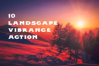10 vibrant landscape effect photoshop action