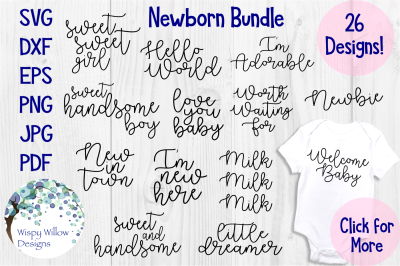 Newborn Baby SVG Bundle
