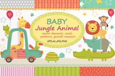 Baby Jungle Animal Set