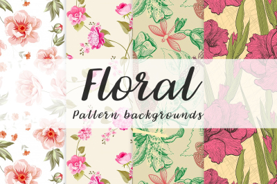 10 floral seamless pattern background Vol.2
