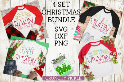 Like a Mother Christmas 4-set SVG Bundle