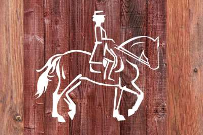 Dressage Horse Troting cut file