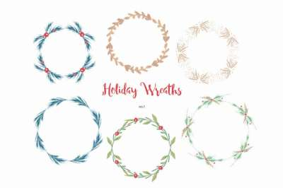 Holiay Wreaths no.1
