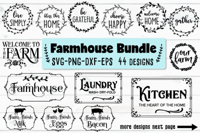 Farmhouse Bundle - SVG, PNG, EPS, DXF