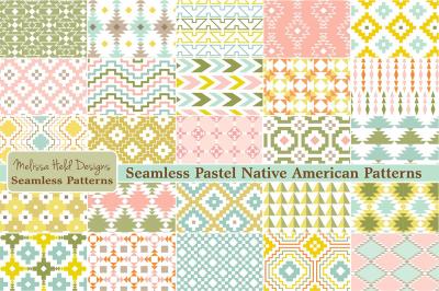 Pastel Native American Patterns