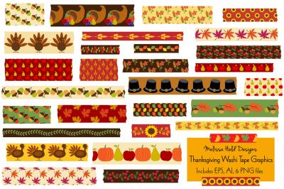 Thanksgiving Washi Tape Graphics