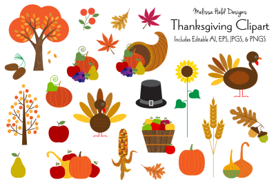 Thanksgiving Clipart Graphics
