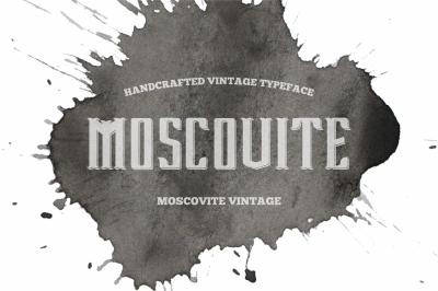 Moscovite vintage font