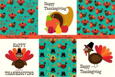 Thanksgiving Patterns & Graphics
