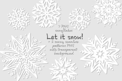 Snowflakes + patterns