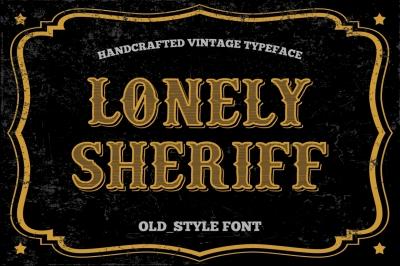 Old Style font - vintage typeface.