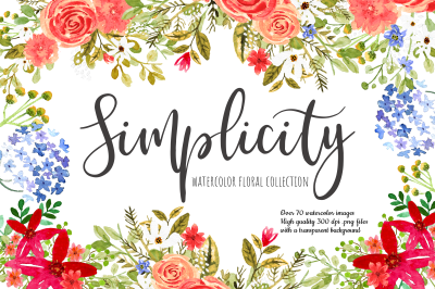 Watercolor Floral Collection Simplicity